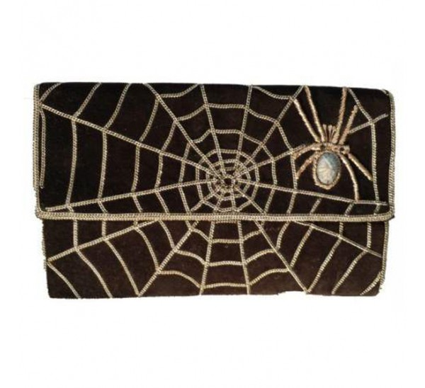 BG 25981 SPIDER EMBROIDERED CLUTCH