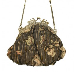 622 TAPESTRY BRASS FRAME BROWN VINTAGE BAG-contact for prices