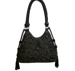 RD1821L LEATHER HOBO EMBOSSED