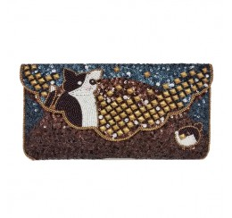 CAT CLUTCH ALL BEADED