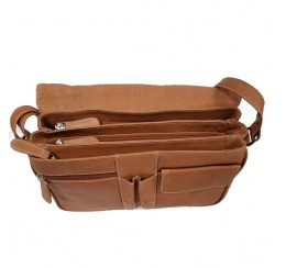 IQ388 LEATHER ORGANIZER BAG
