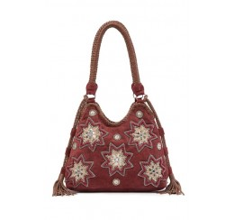 KT3 LEATHER MOGRA EMBROIDERED HOBO