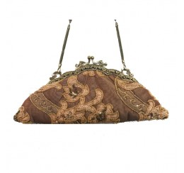 300 DUSTY ROSE VINTAGE TAPESTRY CLUTCH