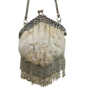 AC054 HAND CRAFTED CREWEL EMBROIDERY VINTAGE BAG