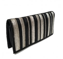 RD10500 CELL PHONE WALLET ORGANIZER HAND EMBROIDERED BLK/SIL