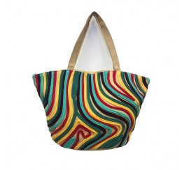 abstract jersey art multi color tote