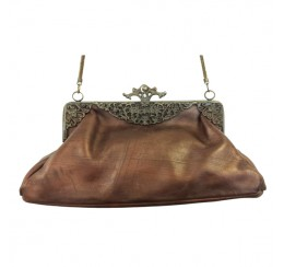 31004 GENUINE ANTIQUE LEATHER VINTAGE FRAME BAG-contact for prices