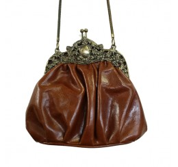 31079 CRUNCH VINTAGE LEATHER FRAME BAG