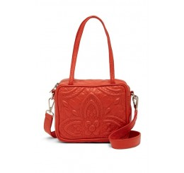 RD1824L LEATHER DBL HANDLE ZIPTOP BAG