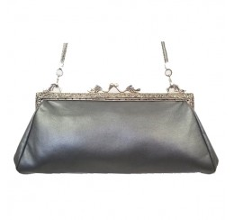 French Vintage 1918 Leather Clutch