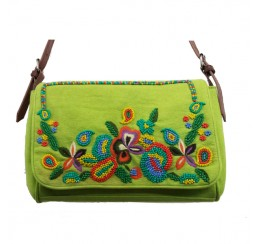 ARF1002 HAND MADE BEADED ZIP TOP BAG