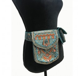 BROCADE EMBROIDERED BELT BAG