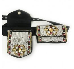 PEARL EMBROIDERY FANNY PACK/ BELT BAG