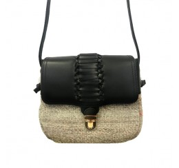 CARPET LEATHER CROSS BODY FLAP OVER BAG